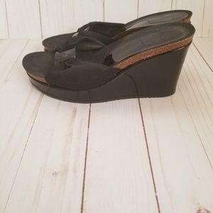 Donald Pliner Wedge Slippers (5.5)
